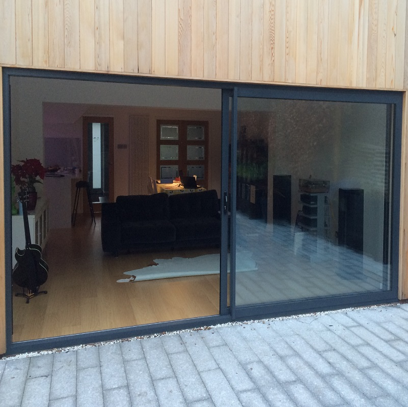Aluminium sliding patio doors leeds by reveal for Aluminium patio doors