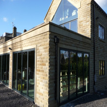 Aluminium bi-folding doors - Leeds - West Yorkshire