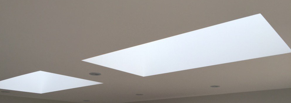 Vision Flat Roof Light Viewed From Inside