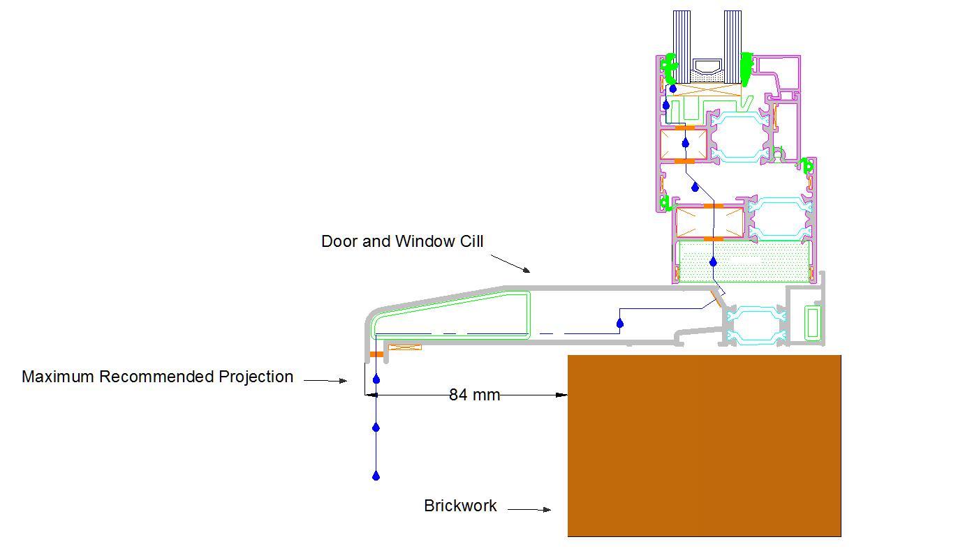 Aluminium Door and Window Cill Projection