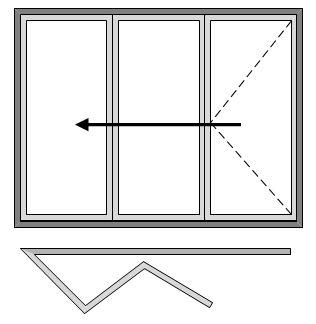 Reveal Bi-folding Doors - Three Pane - Open Out - All Slide Left