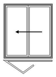 2 Pane Bi-folding Doors - Open Out
