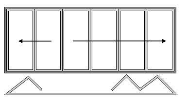 6 Paner Bifold Door Open In Two Slide Right to Left and Four Slide Left to Right no Master Door