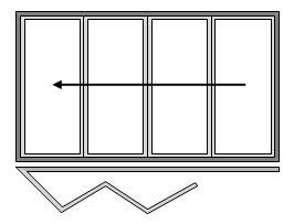 4 Pane Bi-folding Door Open Out Sliding Right to Left