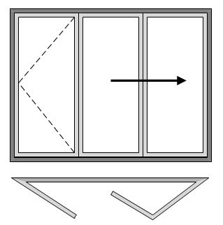 3 Pane Bi-folding Door - Open Out