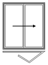 2 Pane Bi-folding Doors - Open Out