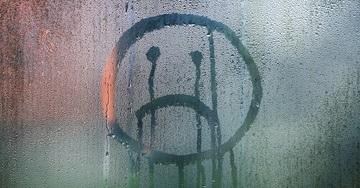 Sad Face On Condensation